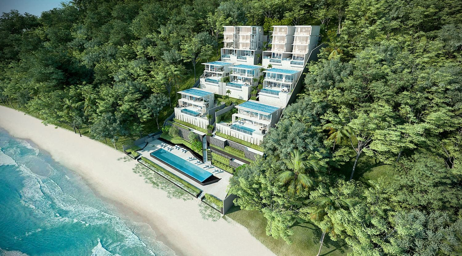 Stylish 4 Bed Beachfront Ocean View Pool Villa For Sale in Ao Yon