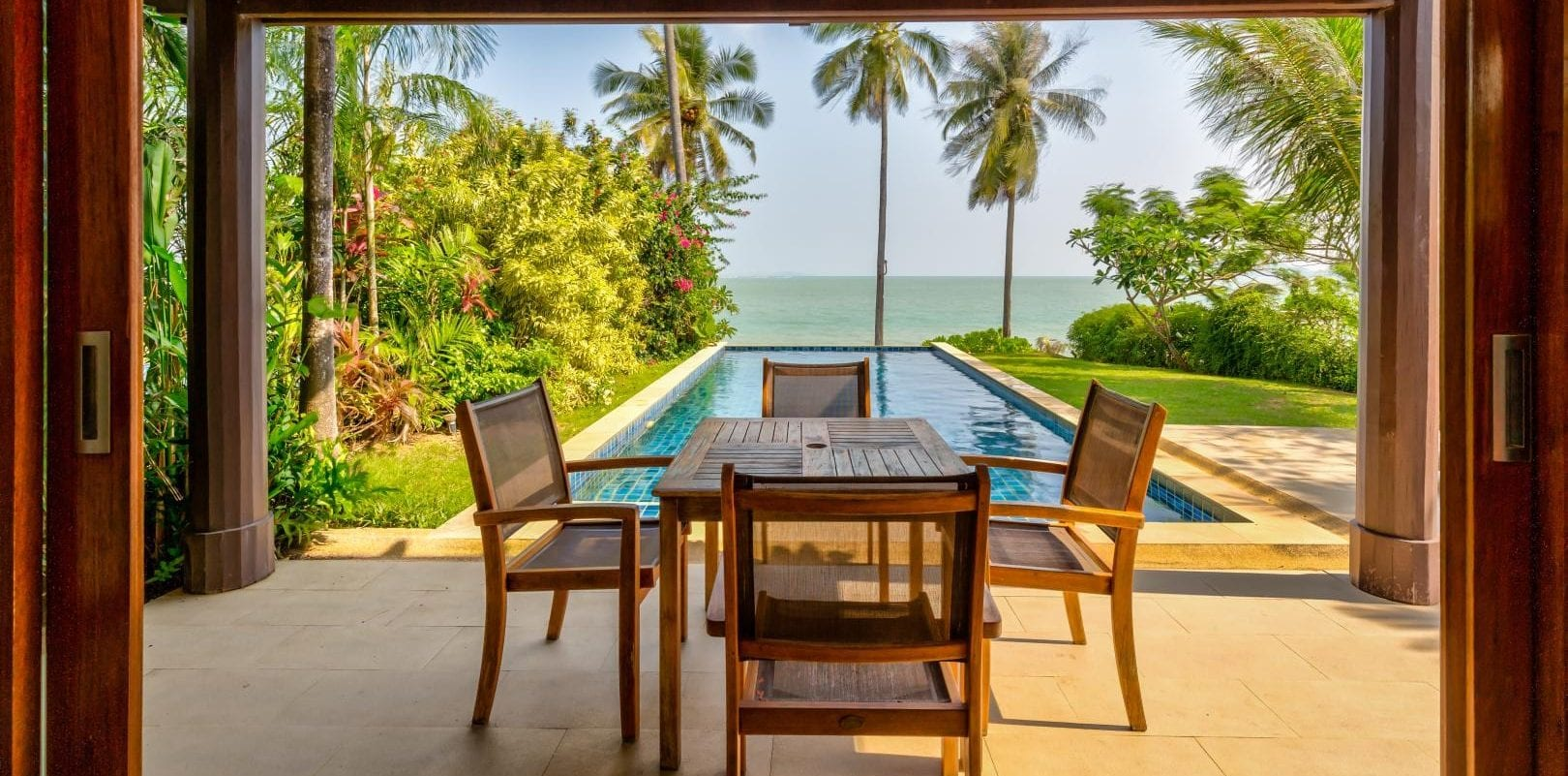 ABSOLUTE BEACH FRONT VILLA for sale 2-Bed. Best value in Phuket