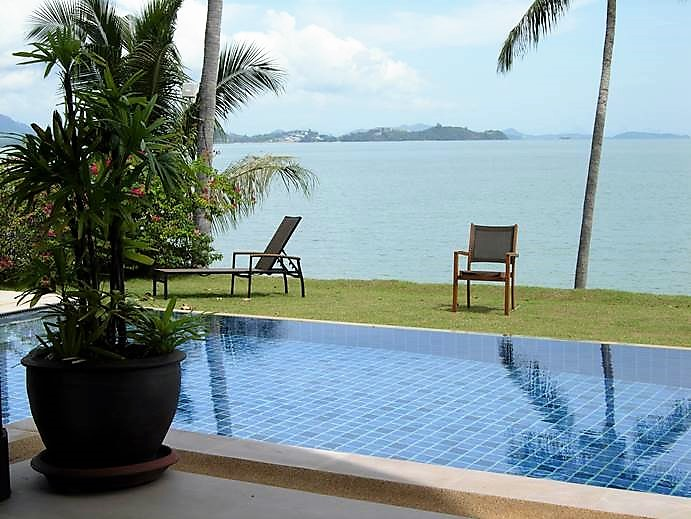 3 Bed Beach front Pool Villa Coconut Island for Sale