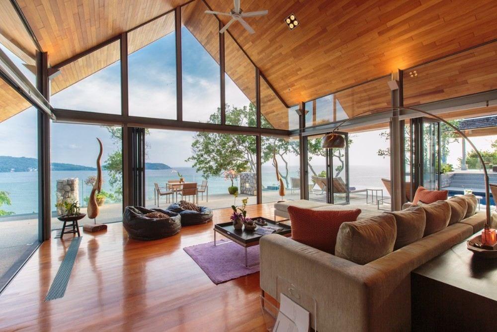 Ocean Waterfront 6 Br Villa, Kamala