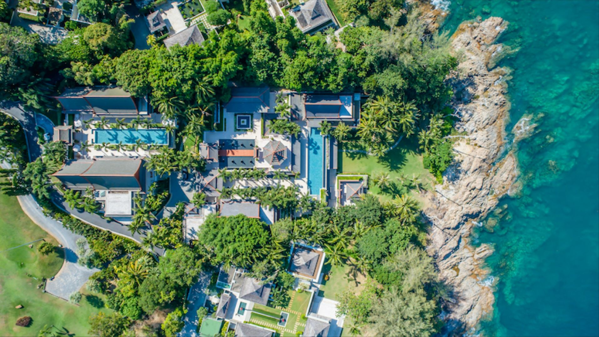 Magnificent Oceanfront Villa Estate on 1.7 acre, Surin