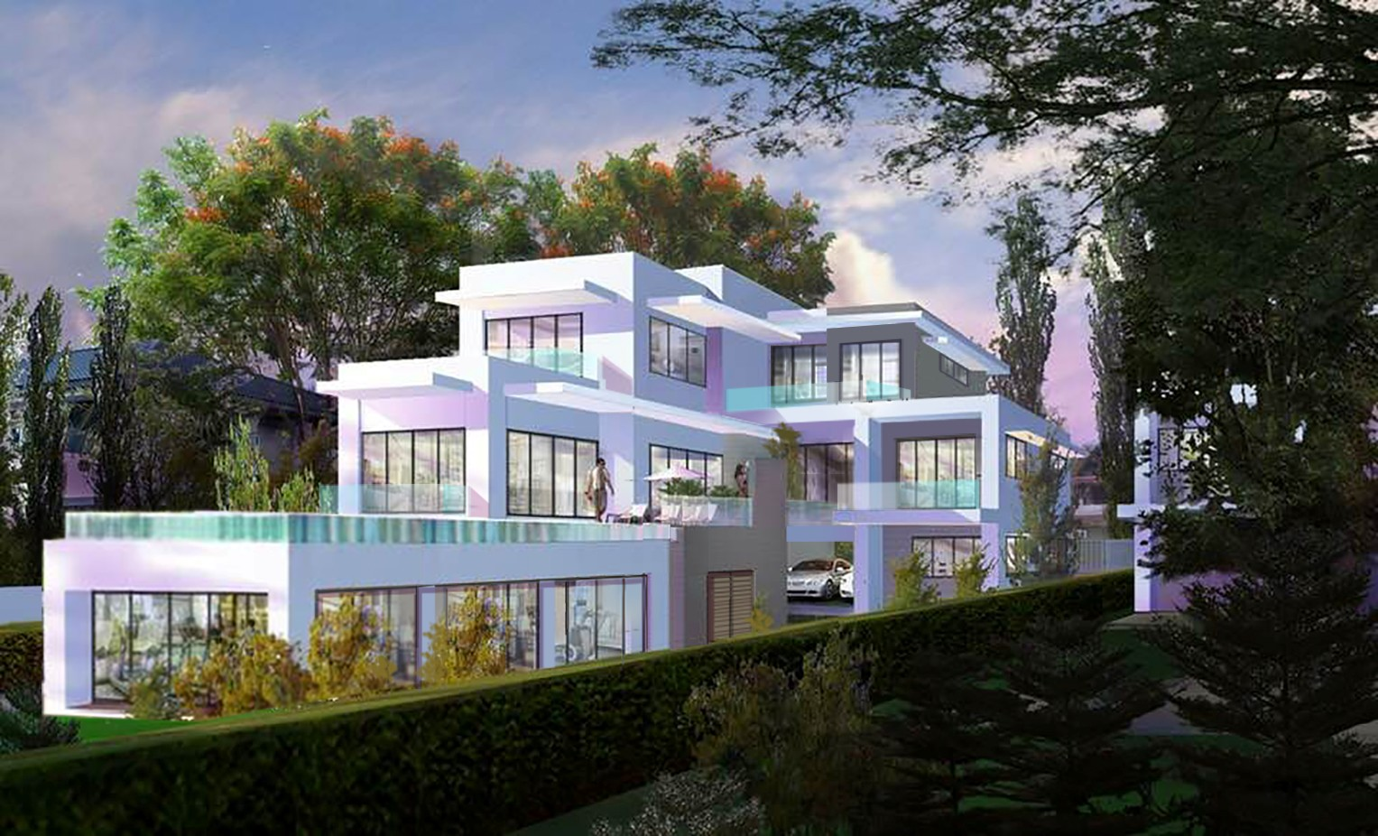 Modern 4 Bedroom Sea View Villa Flat Walk to the Beach, Phuket